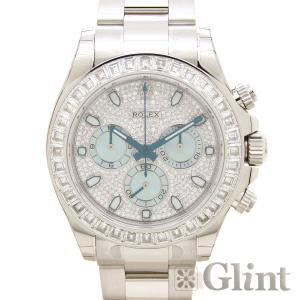 ROLEX(ロレックス)コスモグラフデイトナ 116576TBR プラチナ アイスブルー〔腕時計〕〔メンズ〕〔バゲットダイヤモンド〕〔純正品〕〔新品〕
