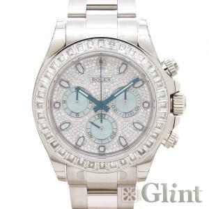 ROLEX(ロレックス)デイトナ 116576TBR プラチナ アイスブルー〔腕時計〕〔メンズ〕〔バゲットダイヤモンド〕〔純正品〕〔新品〕
