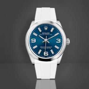promo code c9e0e ac2aa RUBBERB ロレックス オイスターパーペチュアル デイトジャスト31mm専用ラバーベルト  色:ホワイト【ROLEXバックルを使用】※時計、バックルは付属しません