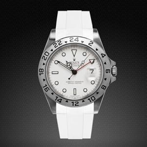 competitive price 71350 22188 RUBBERB ロレックス エクスプローラーII専用ラバーベルト 色:ホワイト【ROLEXバックルを使用】※時計、バックルは付属しません