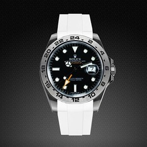 on sale 81b6e 227af RUBBERB ロレックス エクスプローラーII専用ラバーベルト  色:ホワイト【ROLEXバックルを使用】※時計、バックルは付属しません(42mmモデルに適合)