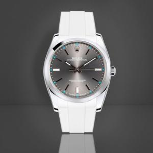 huge selection of 31903 c9720 RUBBERB ロレックス オイスターパーペチュアル 39mm専用ラバーベルト 色:ホワイト【ROLEXバックルを使用】※時計、バックルは付属しません