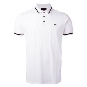 エンポリオアルマーニ EMPORIO ARMANI ポロシャツ ホワイト メンズ 3y1fa8 1jaqz 半袖 カットソー トップス カジュアル インナー おしゃれ デート 送料無料 global-round