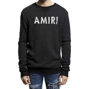 AMIRI アミリ トレーナー ブラック MHD06-DIS-216AM1 CREWNECK SWEATSHIRT カシミア混 スウェット ヴィンテージ 【2017年 春夏 SS 新作】【送料無料】 global-round