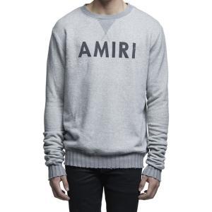 AMIRI アミリ トレーナー グレー MHD06-DIS216AM2 Grey CREWNECK SWEATSHIRT スウェット ヴィンテージ カシミア混 送料無料 global-round