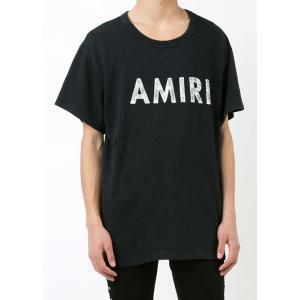 AMIRI アミリ クルーネック Tシャツ MST05-DIS201AM1 ブラック ヴィンテージ Tシャツ 【2017年 春夏 SS 新作】【送料無料】 global-round