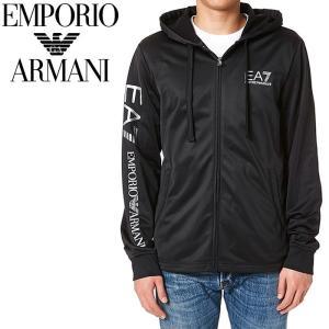エンポリオアルマーニ EMPORIO ARMANI EA7 ジップアップ パーカ ブラック トラックジャケット メンズ ジャージ 3YPMA2 PJ08Z 1200 【送料無料】|global-round