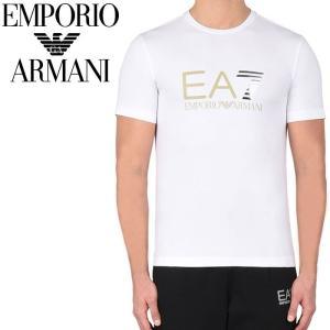 エンポリオアルマーニ EMPORIO ARMANI EA7 クルーネックTシャツ ホワイト 3yptf9 pj03z 1100 【2017年 春夏 新作】【送料無料】 global-round