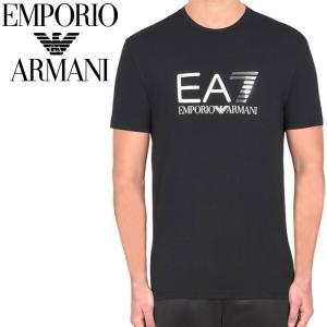エンポリオアルマーニ EMPORIO ARMANI EA7 クルーネックTシャツ ブラック 3yptf9 pj03z 1200 【2017年 春夏 新作】【送料無料】 global-round