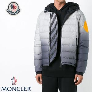 モンクレール × オフホワイト MONCLER × OFF-WHITE ダウンジャケット DINARD グレー 4130505 58023 998 dinard フーデッド メンズ 新品 送料無料|global-round