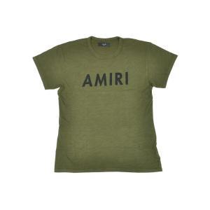 AMIRI アミリ クルーネック Tシャツ MST05-DIS201AM3 OLIVE オリーブ ヴィンテージ Tシャツ グリーン 【2017年 春夏 SS 新作】【送料無料】 global-round