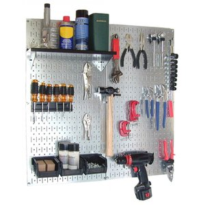 工具・壁掛けボードキット 2 panel Silver (ペグカラー:Black)|global-shop-rb