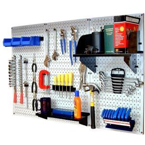 工具・壁掛けペグボードキット 3 panel White (ペグカラー:Black)|global-shop-rb