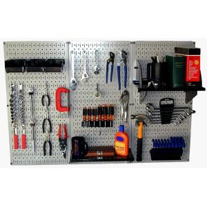 工具・壁掛けペグボードキット 3 panel Gray (ペグカラー:Black)|global-shop-rb