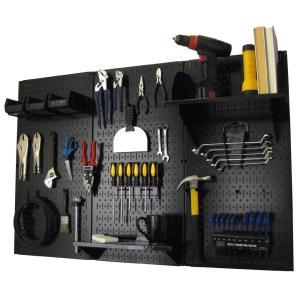 工具・壁掛けペグボードキット 3 panel Black (ペグカラー:Black)|global-shop-rb