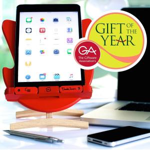 Thinking Gifts スマホ タブレット ブックスタンド 書見台 本立て 木製 折畳み 角度調整 エッグチェア/eggchair・デザイン 英国ギフトオブザイヤー受賞|global-shop-rb