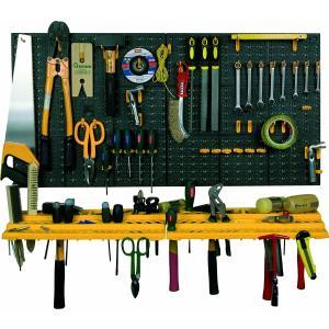 大容量!工具壁掛けボードキット 100×50cm 工具箱 収納|global-shop-rb