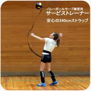 バレーボール サービストレーナー 安心の240cmストラップ サーブ練習 練習用 ウォーミングアップ バレー用品 トレーニング クラブ 同好会 サークル|global-shop-rb