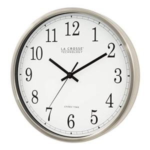 La Crosse Technology WT-3126B 12-Inch Atomic Analog Wall Clock, Aluminum|global-work