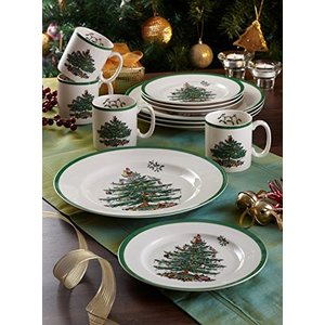 Spode Christmas Tree Soup Plate, Set of 4 by Spode|global-work