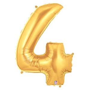40インチ(90cm)レターバルーン ゴールド 4 1枚/ロット|global-work