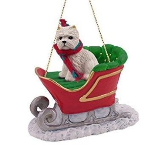 Westie Sleigh Dog Christmas Ornament by Conversation Concepts|global-work