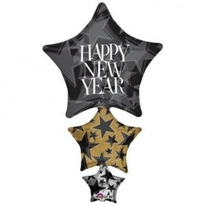 Amscan Super Shape Happy New Year Stacker Balloon|global-work