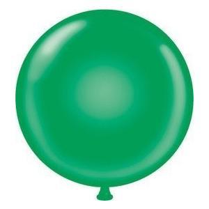 Mayflower 38180 72'' Giant Latex Balloon - Green by Tuftex|global-work