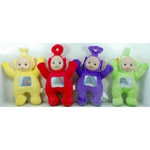 Teletubbies Set of 4 Plush Dolls Featuring 20cm Po, Dipsy, Laa Laa, and|global-work