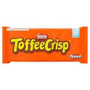 (Toffee Crisp (さわやかなタフィー)) ネスレ8Pkの38グラム (x4)Nestle...