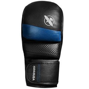 Hayabusaハイブリッドt3*7oz KickboxingとMMAグローブ ブルー
