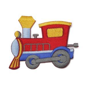 ワッペン アイロン 電車 機関車 トレイン かわいい アップリケ わっぺん アイロンで簡単貼り付け