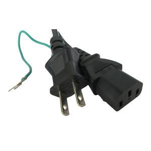 電源ケーブル IEC-106-3m 平2ピン+アース端子|globalmart