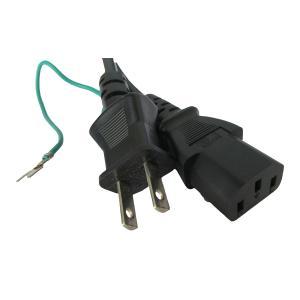 電源ケーブル IEC-106-5m 平2ピン+アース端子|globalmart