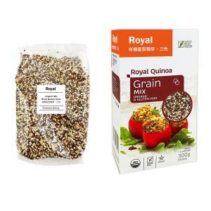 3色ミックスキヌア(粒)300 g - ORGANIC & GLUTEN-FREE Royal Quinoa globalmart