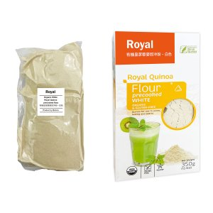 白キヌア(粉末)350 g - ORGANIC & GLUTEN-FREE Royal Quinoa globalmart