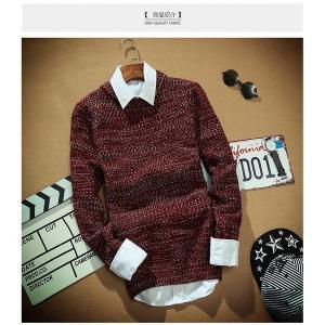 メンズ ファッション ニットセーター クルーネック ニットソー カットソー  セーター 長袖 秋冬|globalstyleclub