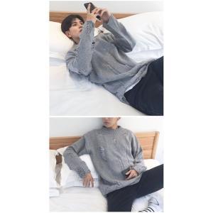 メンズファッション 長袖 秋 冬 ニットセーター  無地セーター  リブ クルーネック|globalstyleclub