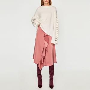 レディース ニットセーター ゆったり  クルーネック 長袖  キレイ目 デザイン 着痩せ  秋冬|globalstyleclub