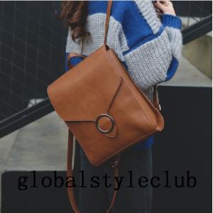 リュック レディース リュックサック レザーリュック  おしゃれ かわいい   肩掛け バッグ 手提げ ショルダ 大容量 通学 通勤 旅行|globalstyleclub