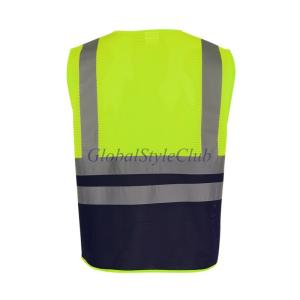 安全ベストマルチポーチ固体反射視認性の高いジッパーセキュリティジャケットアウトドアスポーツウェアチョッキ制服1ピース|globalstyleclub