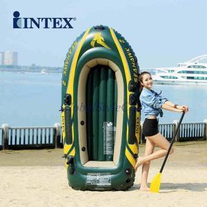 インテックス肥厚2人使用インフレータブルボートディンギー釣りカヤック折りたたみ突撃ボート|globalstyleclub