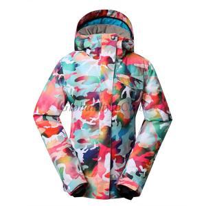 雪印迷彩冬の女性のスキー雪のジャケットスノーボードジャケット暖かさ globalstyleclub