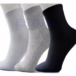 10ペア/ロットロット男黒/グレー/ホワイト居心地の良い綿のスポーツソックス|globalstyleclub