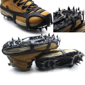 1ペア18歯非スリップアイススノークライミング滑り止め靴カバースパイククリートアイゼン/冬キャンプハイキングアクセサリー|globalstyleclub