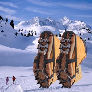 18歯ノンスリップアイススノークライミング滑り止め靴カバースパイククリートアイゼン/新しい到着よく販売|globalstyleclub
