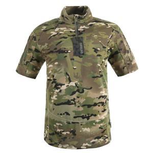 戦術メンズシャツスタンドカラーでショートスリーブ屋外戦闘シャツハイキング速乾性突撃半袖シャツ|globalstyleclub