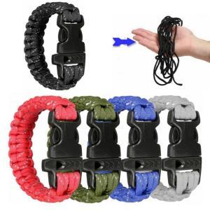 屋外サバイバルレスキューブレスレットクライミング救助緊急ロープエスケープブレスレットロープで笛|globalstyleclub