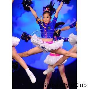 人気子供ダンス衣装 チアガール キッズ コスプレ衣装上下セット チュチュ DANCE レッスン着ダンスウェアHIPHOP ヒップホップ ジャズダンス服|globalstyleclub