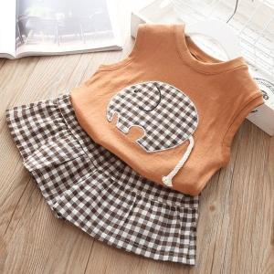 韓国子供服女の子ノースリーブTシャツショートパンツ2点セットベビー夏着子供服お出かけ散歩海外旅行708090100110cm|globalstyleclub